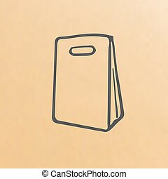 cartoon of three brown paper bags