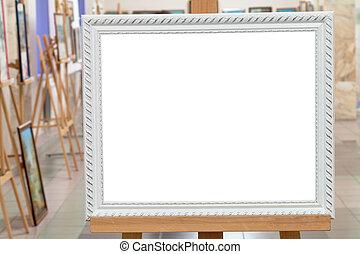 image, chevalet, art, cadre, galerie, blanc, salle
