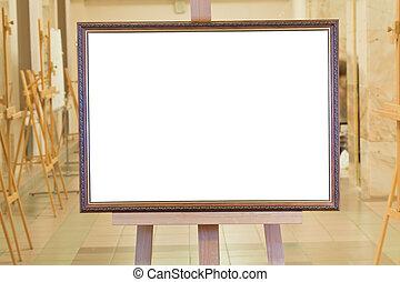 image, chevalet, art, grand, cadre, galerie