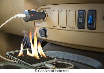 Fire hazard Forget charts phones l