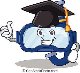 image, conception, remise de diplomes, lunettes, caricature...