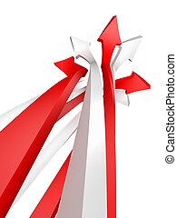 image conceptuelle, blanc, isolé, flèche
