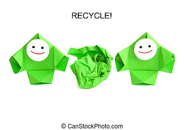 image conceptuelle, recyclage