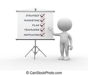 image conceptuelle, -, stratégie