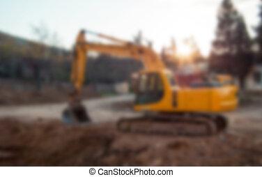 image, construction, brouillé, site, unfocused