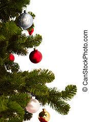 image, coupure, arbre, noël blanc