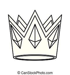 image, couronne, icône