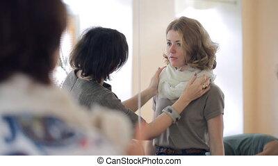 image, cours, comment, écharpe, leçon, styliste, cravate, neckerchief