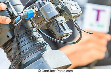 image, couverture, prendre, -, photographes, appareil photo, vidéo, événement