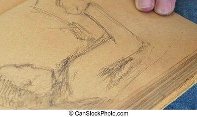 image, croquis, graphique, dessine, artiste, manuel, typon