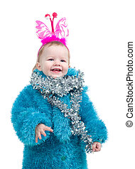 Image cute baby with holiday decoration