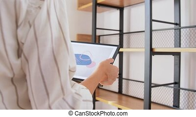 image, décorer maison, femme, cadre