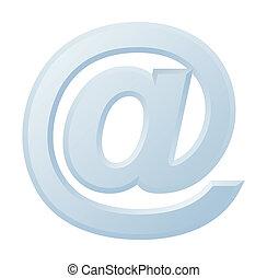 image, de, internet, symbole, @