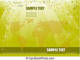 image., dekking, illustratie, vector, informatieboekje , aarde