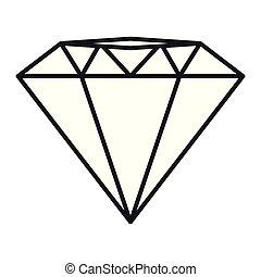 image, diamant, icône