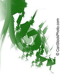 image, disque, vert, artistique