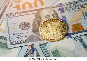 image, dollars, crypto-currency
