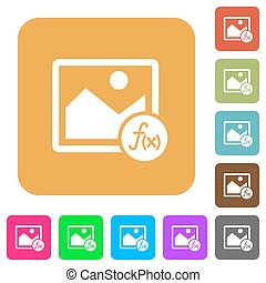 Image effects rounded square flat icons