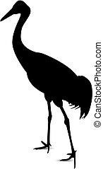 Image Silhouette of heron.