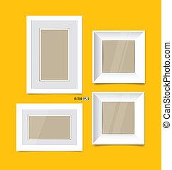 image, eps10, jaune, wall., vecteur, cadres