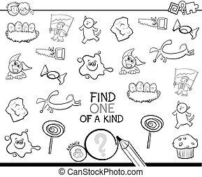 image, espèce, coloration, page, une, trouver
