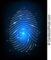 Image  fingerprint scan