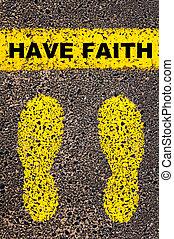 image, foi, message., conceptuel, avoir
