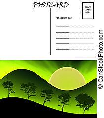 image, gabarit, vide, vide, carte postale, nature