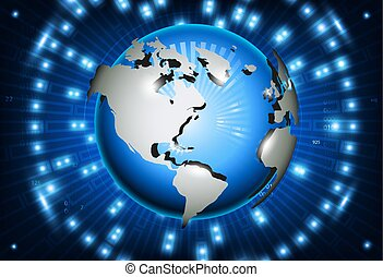Image globe 3d
