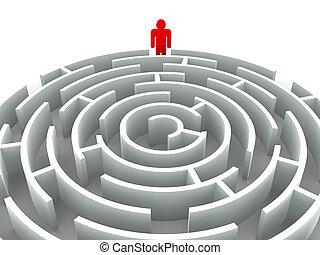 image., gráfico, tridimensional, labyrinth.