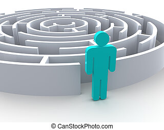 image., grafik, three-dimensional, labyrinth.
