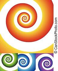 image., graphic., wirowanie, spirala, obracający, obracanie, abstrakcyjny