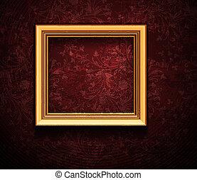 image, grunge, mur, vendange, cadre, vecteur, conception