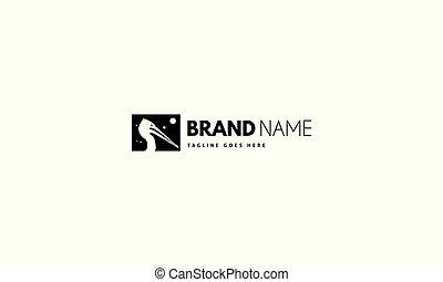 image, head., pélican, logo, vecteur, résumé