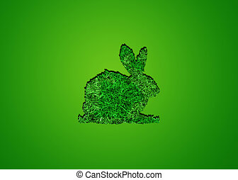 image, herbe, vert, lapin, fond
