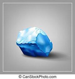Image ice cube - Design logo. Ice cube. 3d. Blue tones.