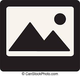 Image Icon on white background