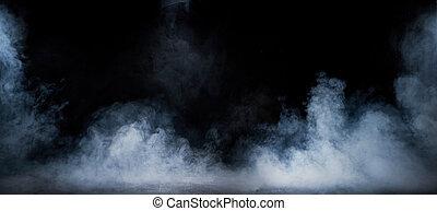 image, intérieur, vapeur, tourbillonner, sombre, dense