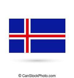 image., islanda, fondo., bandiera, vettore, bianco