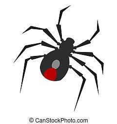 image, isolé, araignés