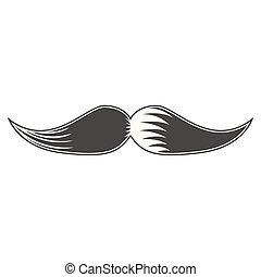 image, isolé, moustache