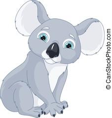 Koala - Image Koala on a white background