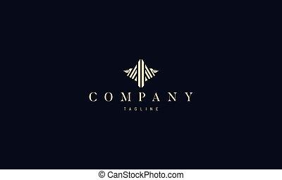 image, logo, vecteur, pelican., résumé, doré