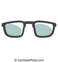 image, lunettes, isolé