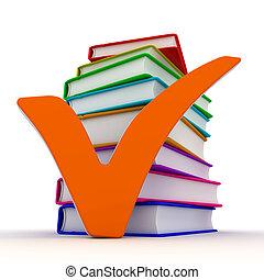 image, -, marque, livres, conceptuel, chèque