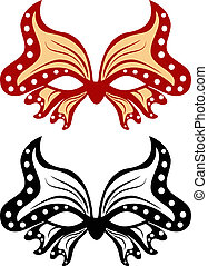 Image masquerade mask in the shape of a butterfly