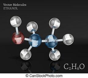 image, molécule, éthanol