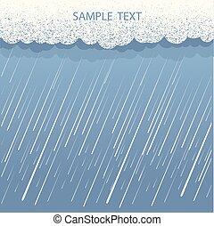 image, mouillé, jour, nuages pluie, arrière-plan., vecteur, sombre