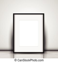 image, mur, vide, contre, penchant, blanc