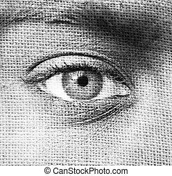 image, oeil, humain, résumé